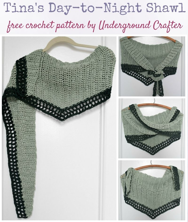 Tina\'s Day-to-Night Shawl, free crochet pattern in Wool and the Gang ...