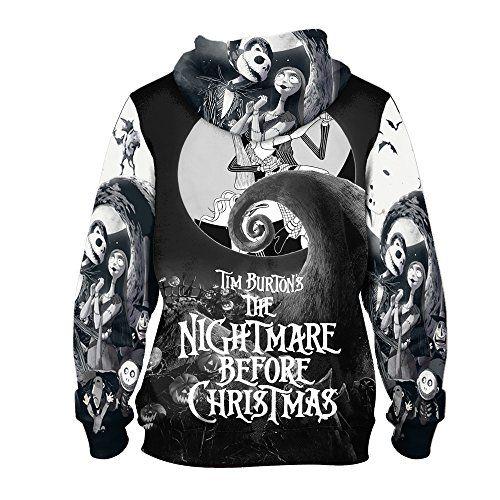 Jack Skellington The Nightmare Before Christmas PullOver Hoodie ...
