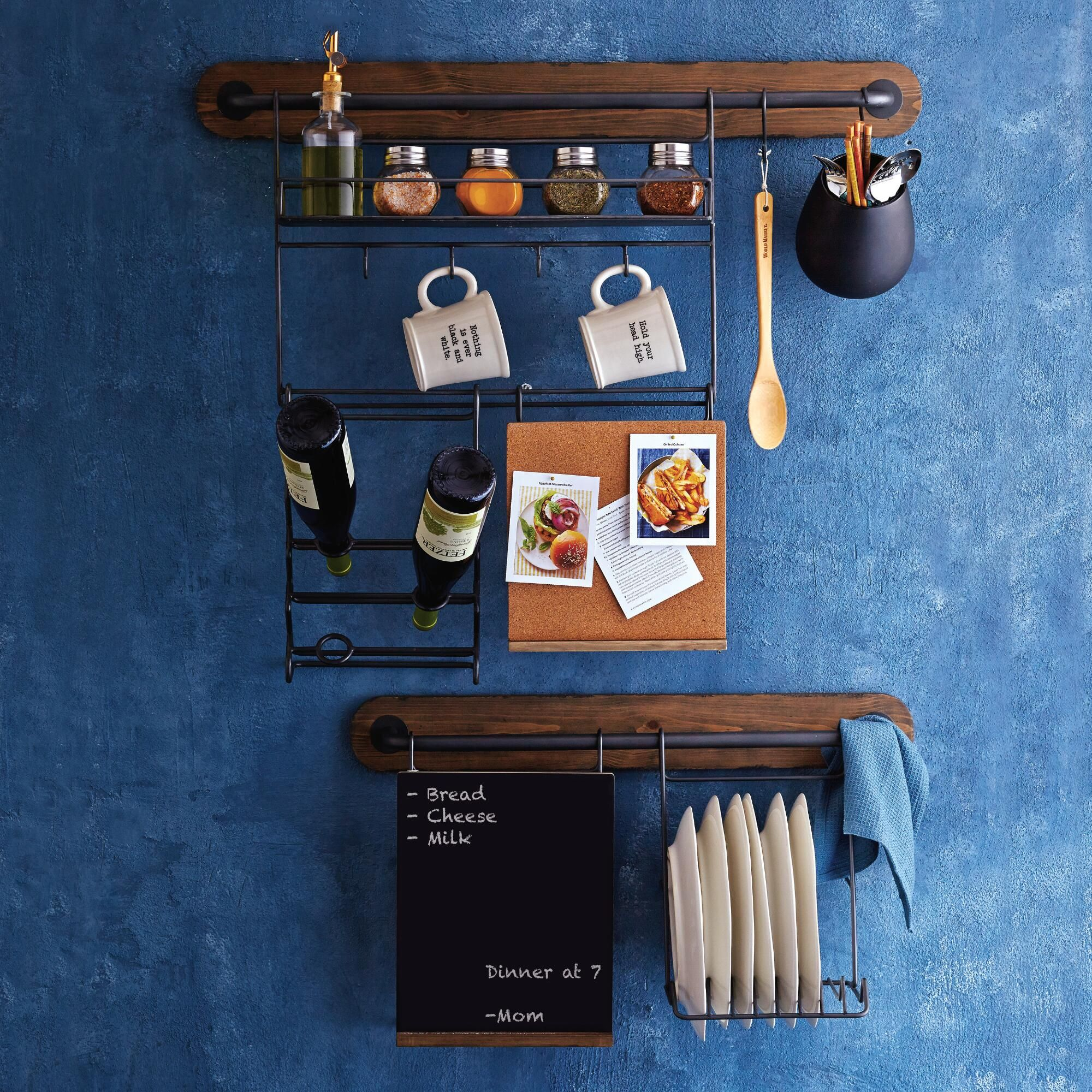 Combine This Storage Rack With Our Small Or Large Modular Bars To Glamorous Kitchen Wall Storage Design Decoration