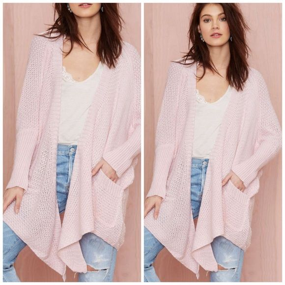 Nwt Oversized Cotton Candy Pink Cardigan Fashion Pink Cardigan Cardigans For Women