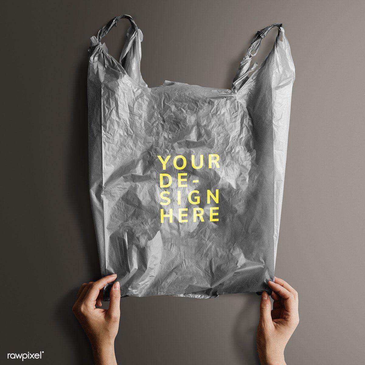 Download Download Premium Psd Of Gray Your Design Here Plastic Bag Mockup 1213789 Bag Mockup Plastic Bag Design Graphic Design Mockup