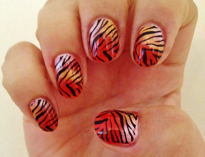 Orange Shellac Additives And Konad M57 Stamping Tiger Nails Theyre