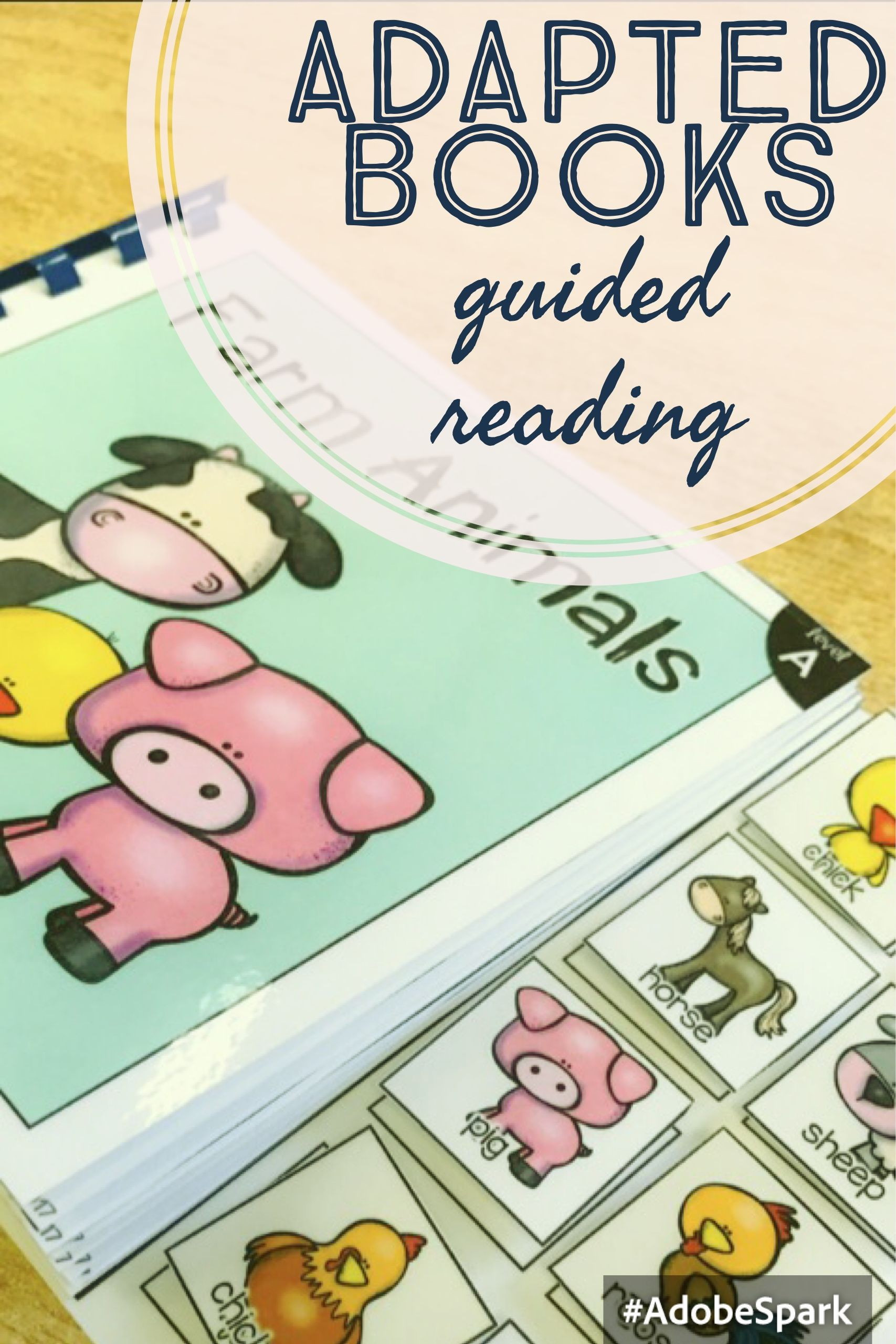 Adapted Book Guided Reading Lesson Farm Animals