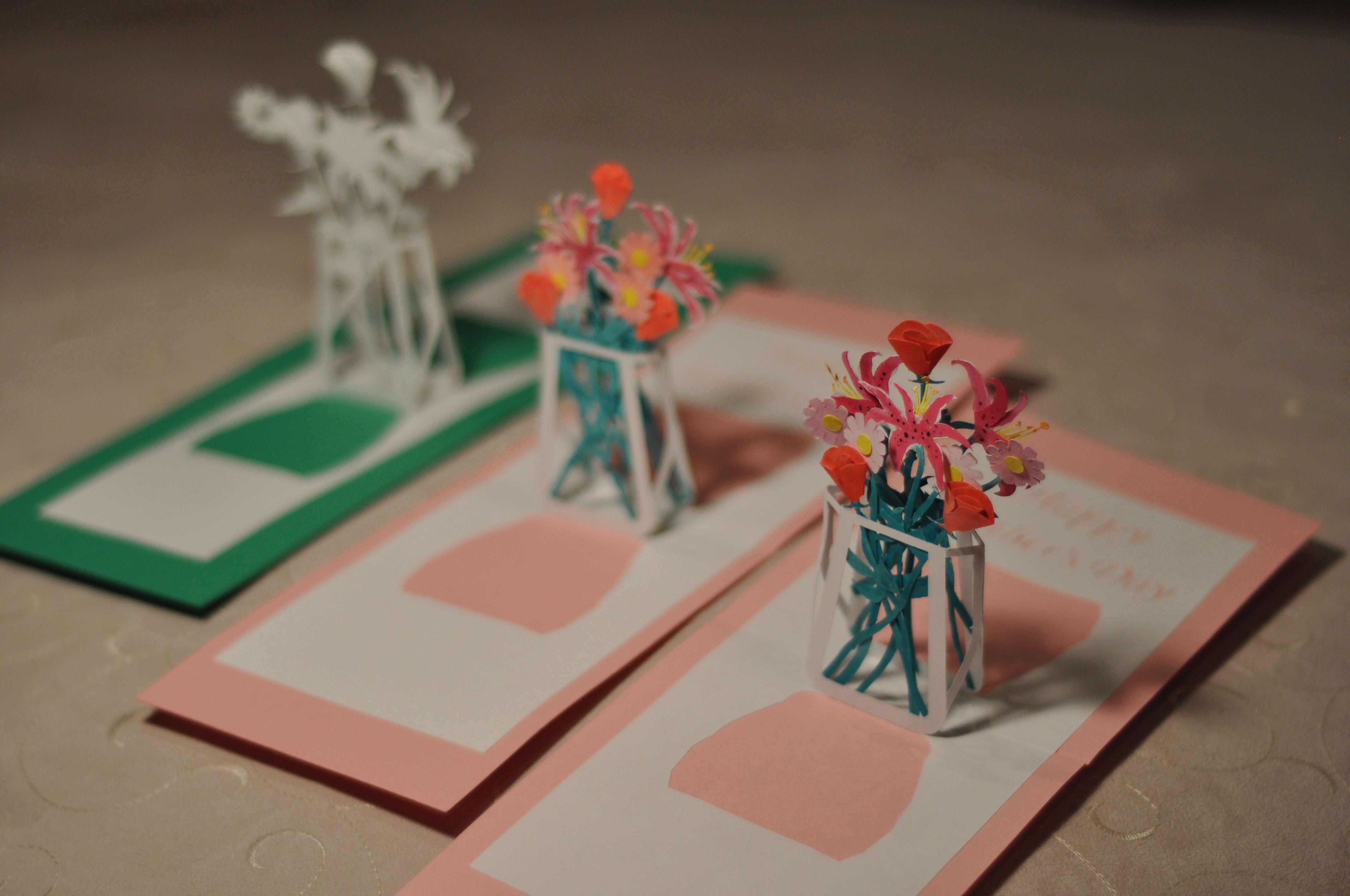 Flower Bouquet Pop Up Card Template Creative Pop Up Cards Pop Up Card Templates Pop Up Cards Pop Up Flower Cards