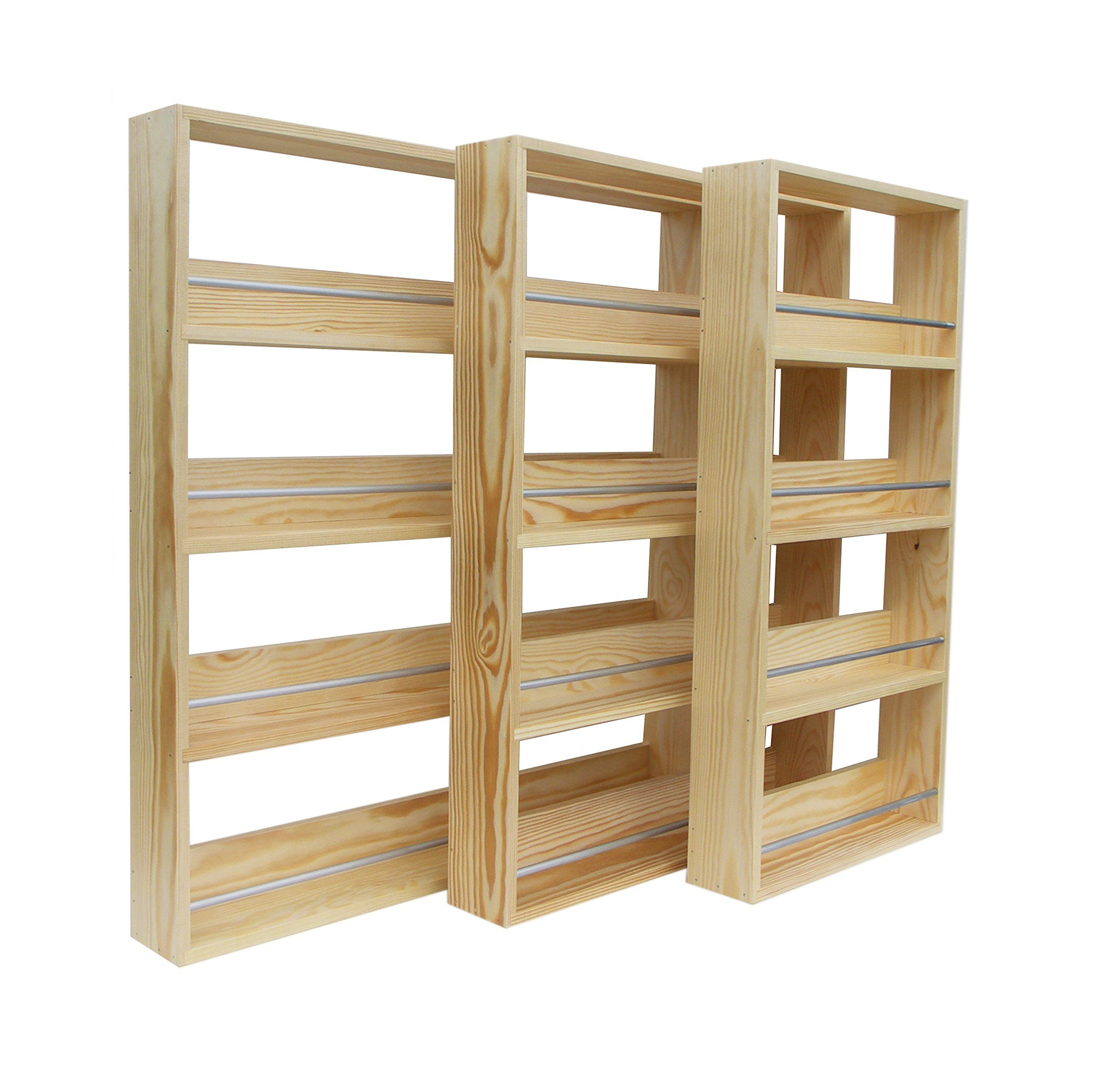 amazon com silverapplewood wooden spice rack solid pine holds up