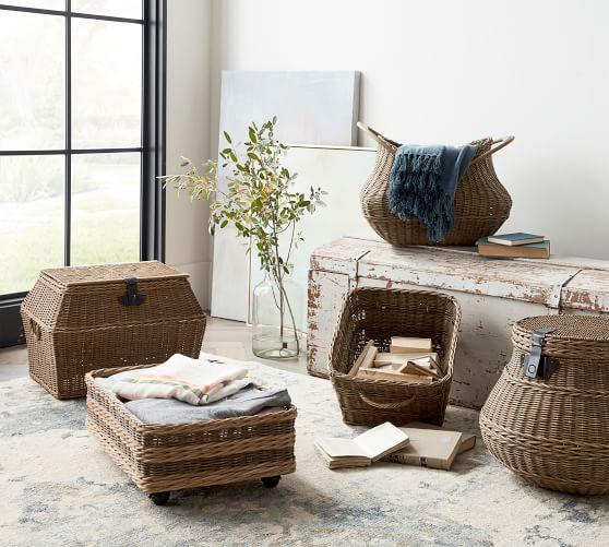 Jacquelyne Basket Collection Pottery Barn Under bed