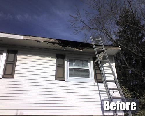 Before Repairing Gutter Cleaning Gutters Gutter Repair House Gutters