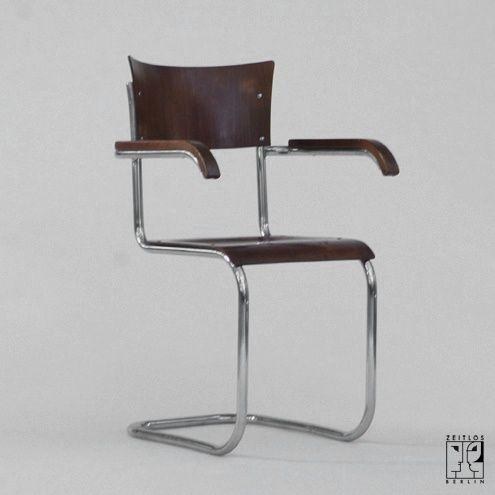 freischwingender stahlrohrstuhl von mart stam zeitlos berlin offie chairs desks. Black Bedroom Furniture Sets. Home Design Ideas