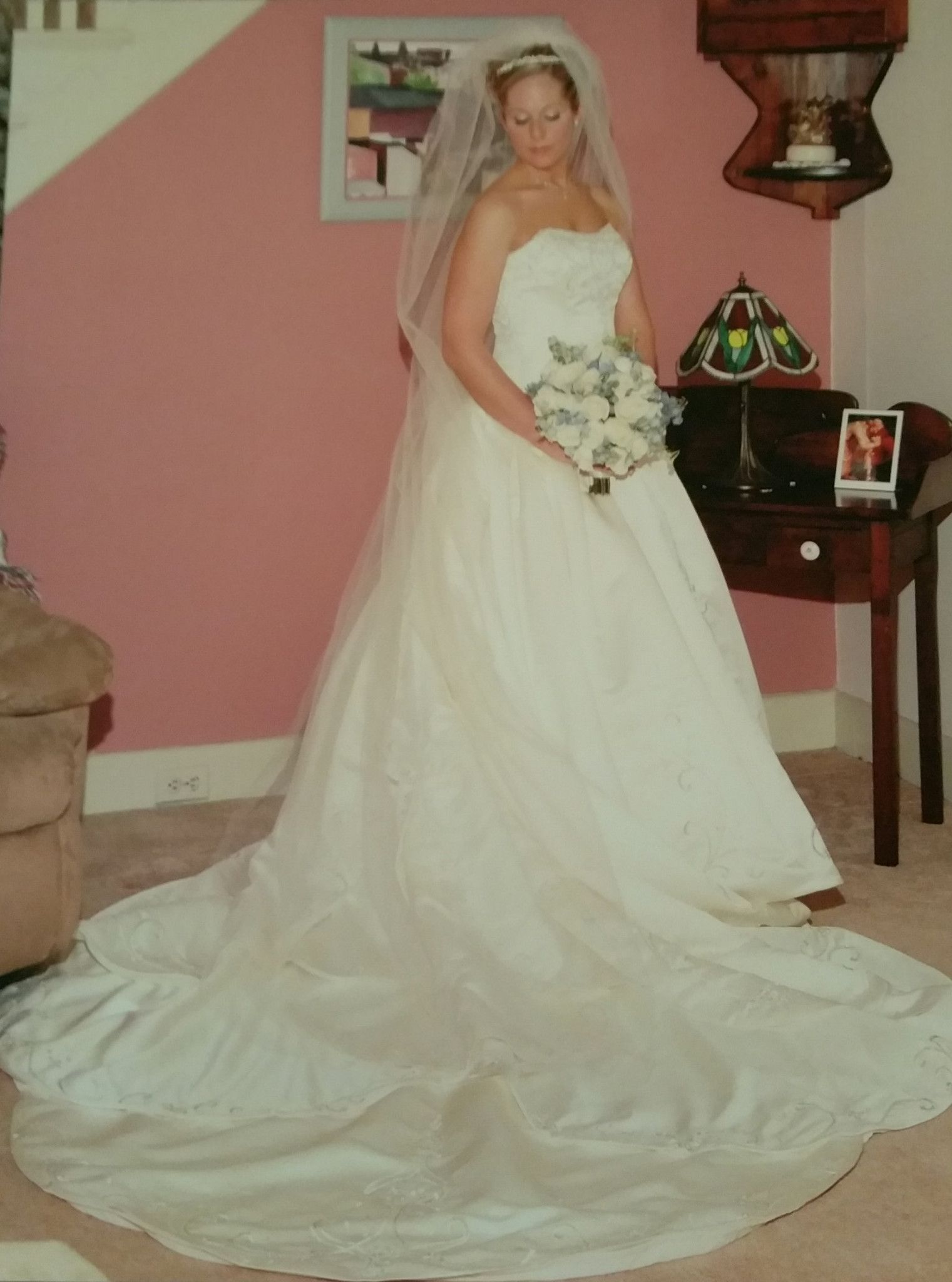 Jasmine Princess Gown With Cathedral Train