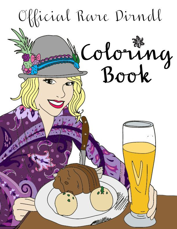 Coloring Book Digital Download Coloring Books Dirndl Color