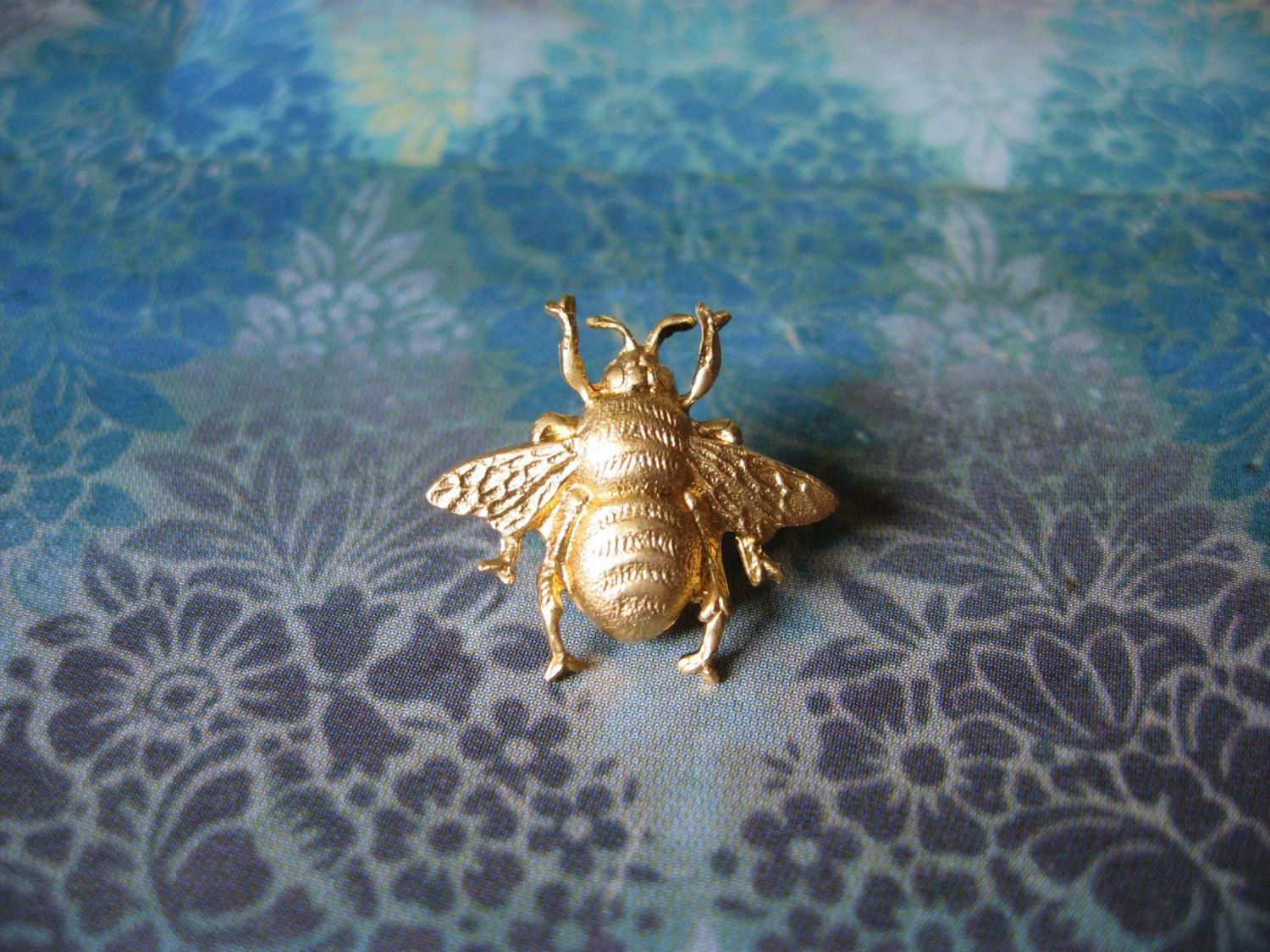 0ae2972b920 Bumble Bee Tiny Golden Bumble Bee Brooch Lapel Pin or Tie