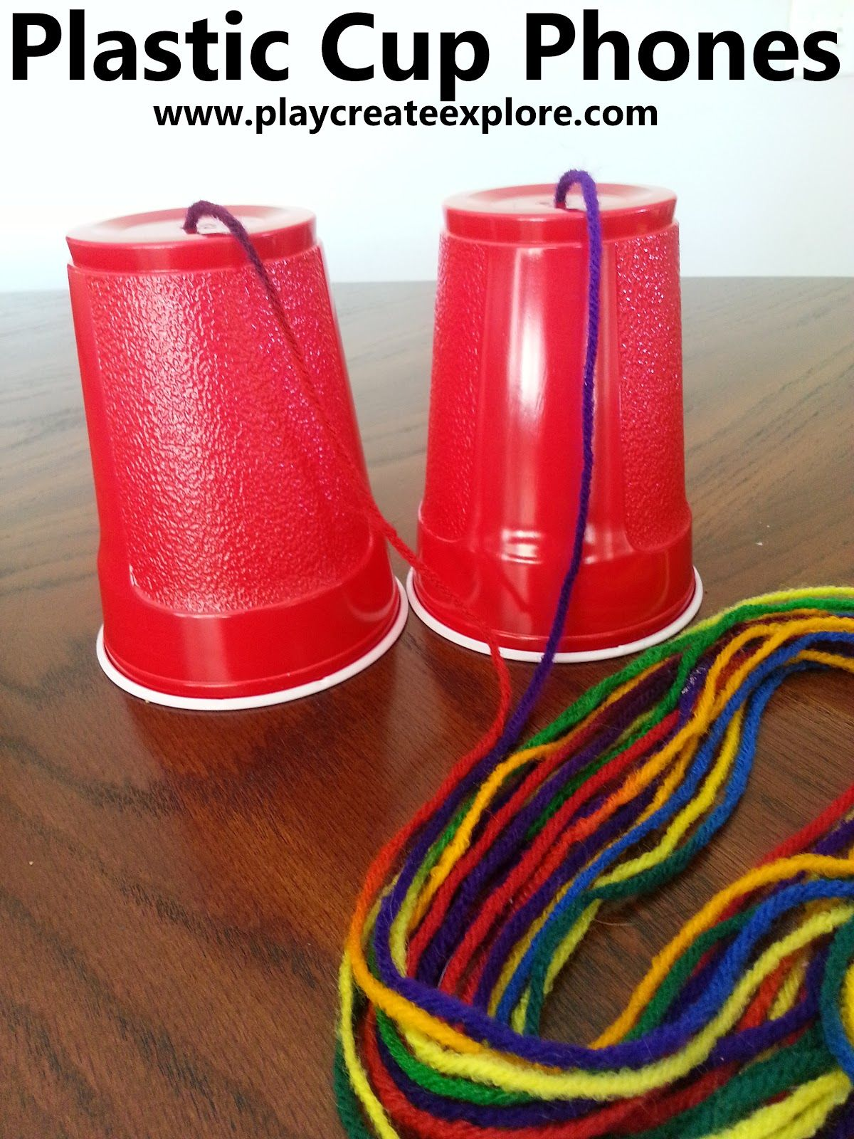 Play create explore plastic cup phones an oldie but a - Cups and kids ...