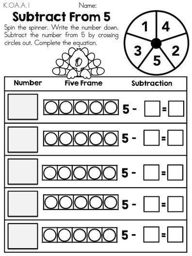 Thanksgiving Kindergarten Math Worksheets Material Educativo