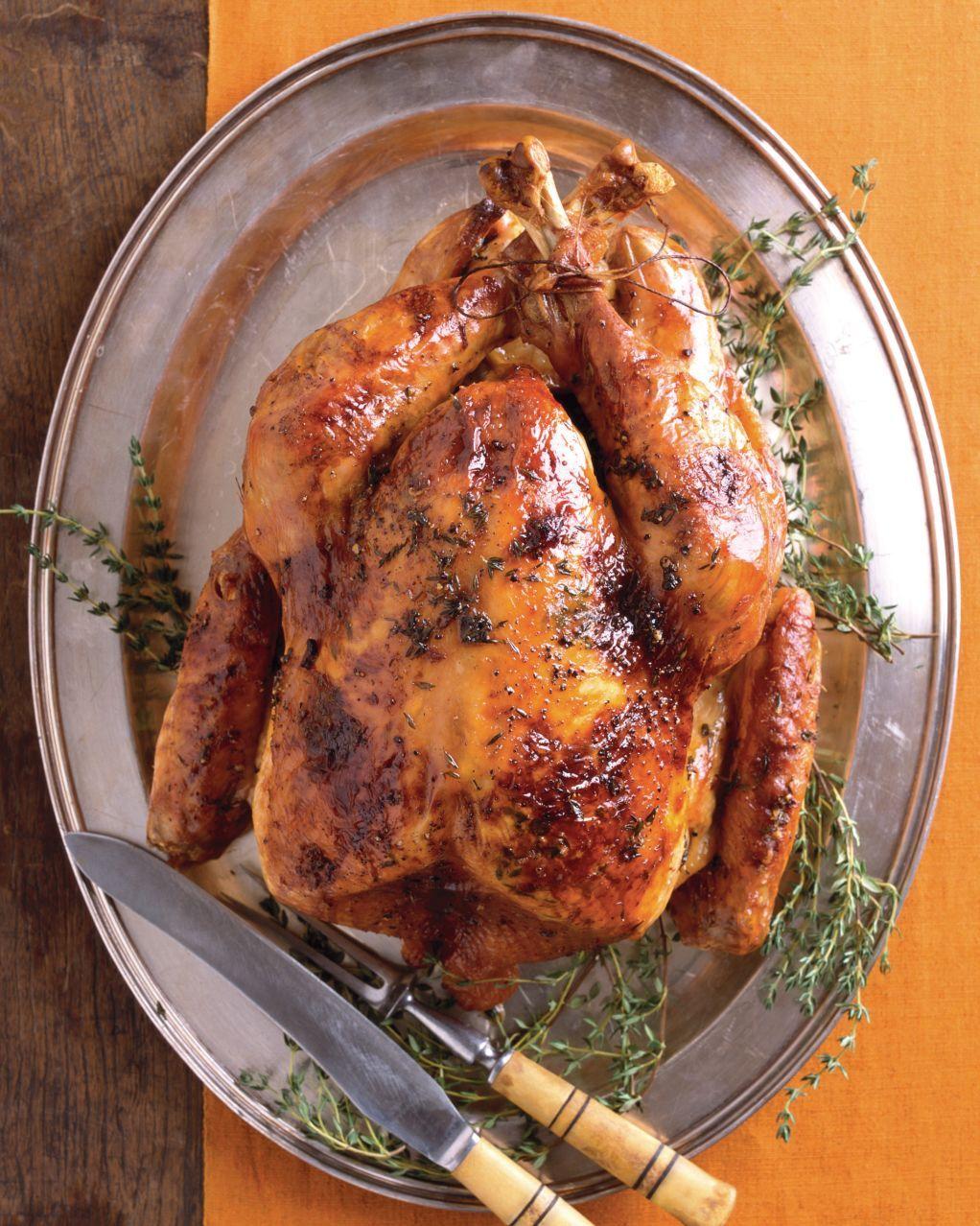 MapleGlazed Roast Turkey with Apple Cider Gravy Recipe