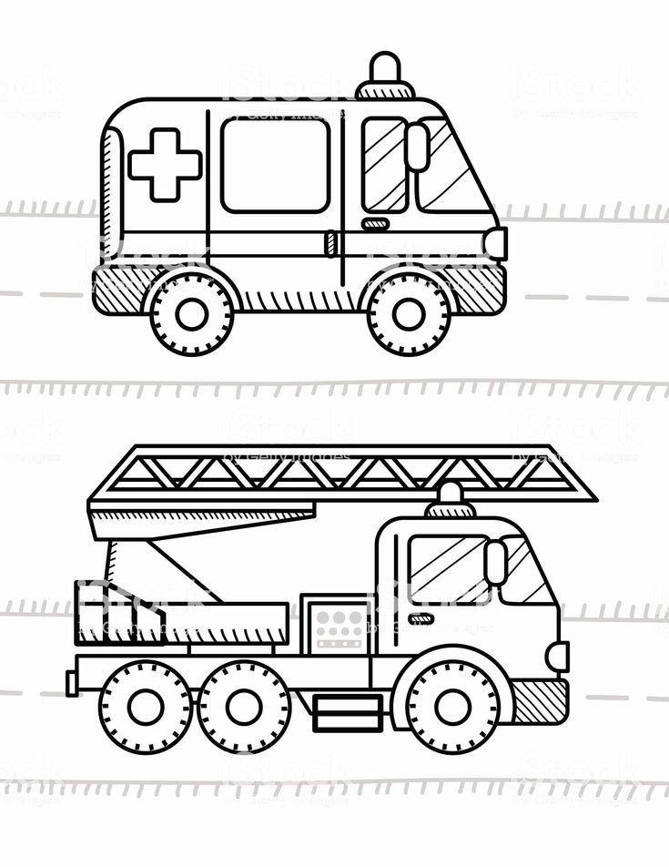 Preschool Fire Truck Coloring Page : preschool, truck, coloring, Coloring, Pages, Ambulance, Truck, Pages,, Trucks,, Books