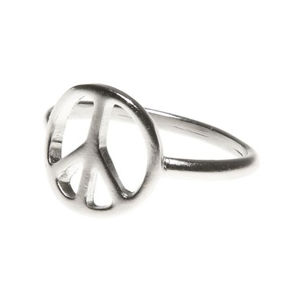 Ae Peace Ring 16 Liked On Polyvore Featuring Jewelry Rings