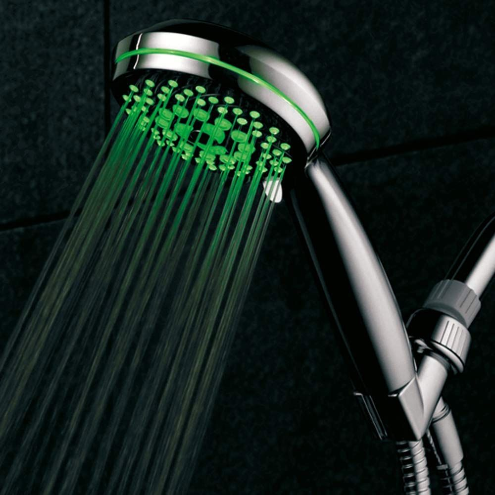 Powered By Running Water No Batteries Needed Led Shower Head Hand Shower Led Color