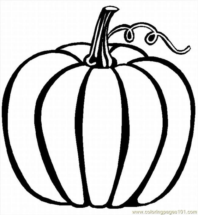 Coloring Page Of A Pumpkin