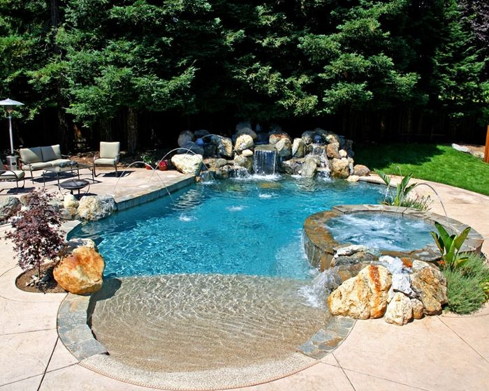 Diving Pool Ideas Diving Pool These Type Of Pools Are Generally About 8 Feet Deep Pool Waterfall Swimming Pool Designs Pool Landscaping