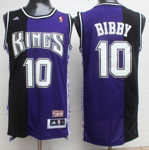 4dbfe23fe73b Kings  10 Mike Bibby Purple Black Throwback Stitched NBA Jersey ...