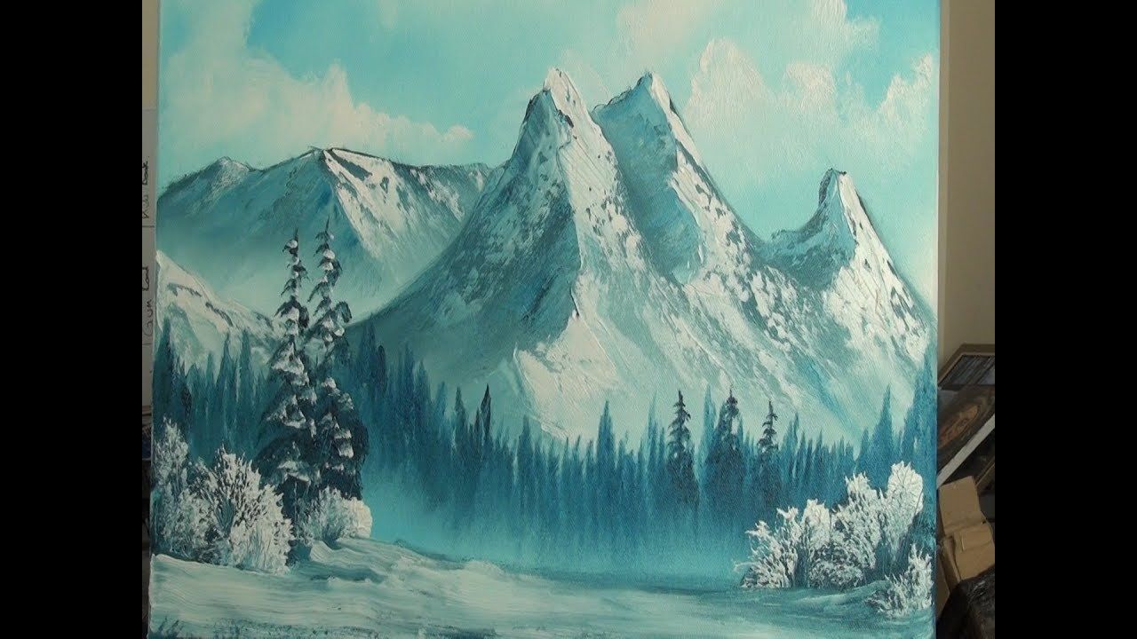 Cold Mountains Wet On Wet Landscape Painting Youtube Landscape Paintings Cold Mountain Painting