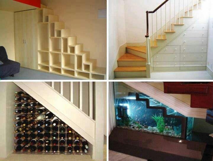 Ideas para aprovechar el espacio de las escaleras hogar for Apliques para escaleras de comunidad