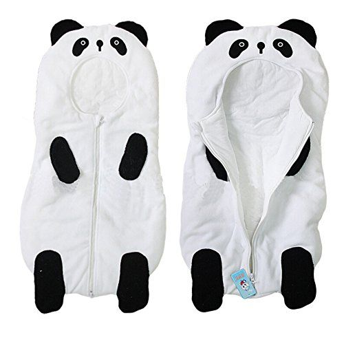 Baby Cute Sleeping Bag Sack Romper Fleece Panda Sleepwear Swaddle Unisex Bodysuit
