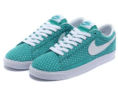buy online 8644b 44d95 Cheap 555281 401 Nike Blazer low suede print green white women shoes