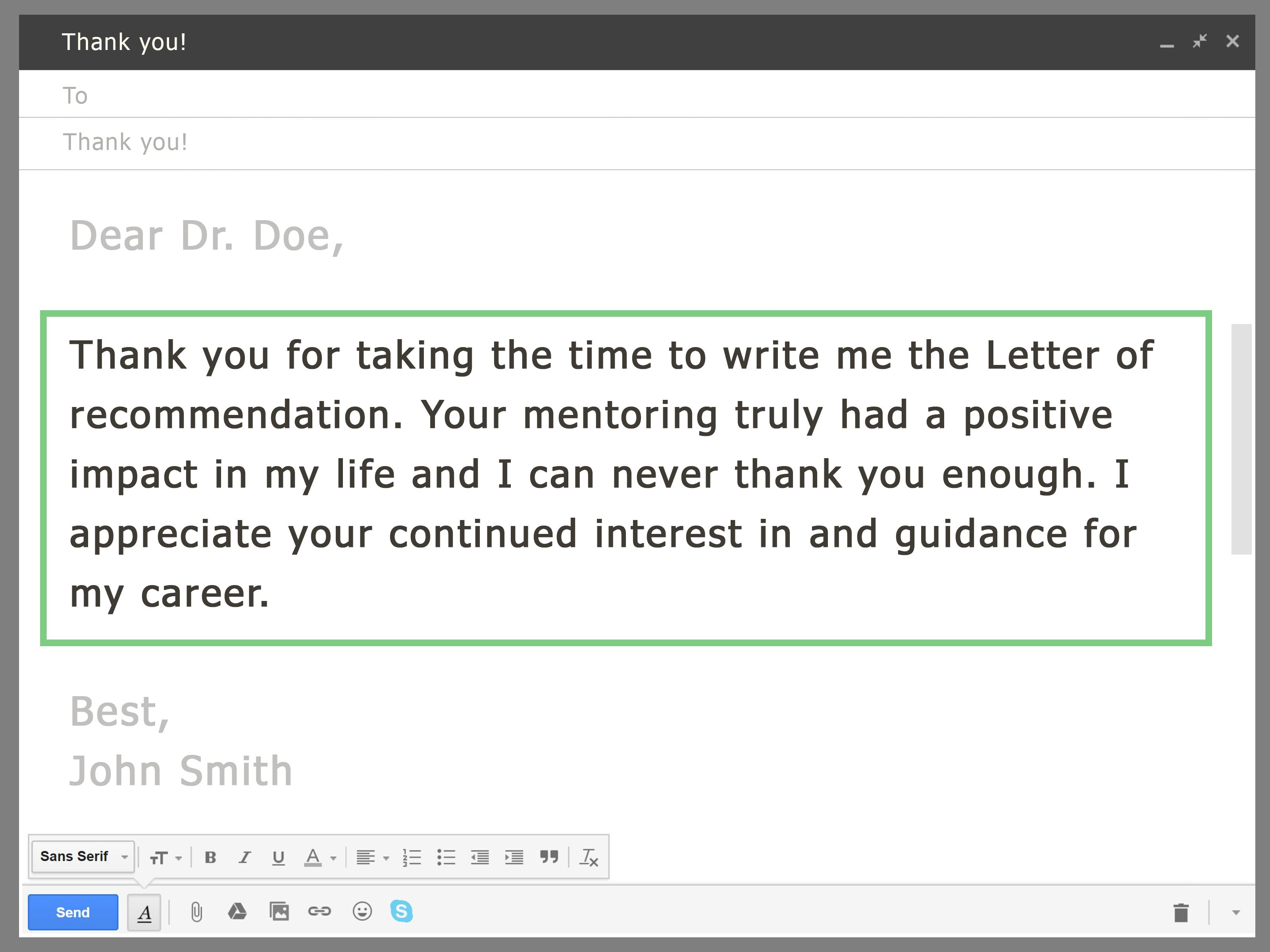 Ask Your Professor for a Letter of Via