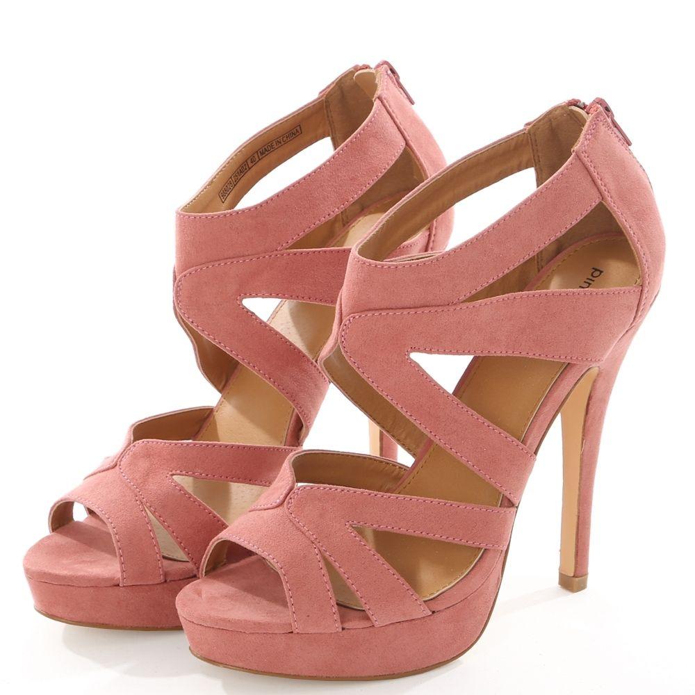 la paire de chaussures 14 centimètres et cristal talon haut cool pantoufles,rose