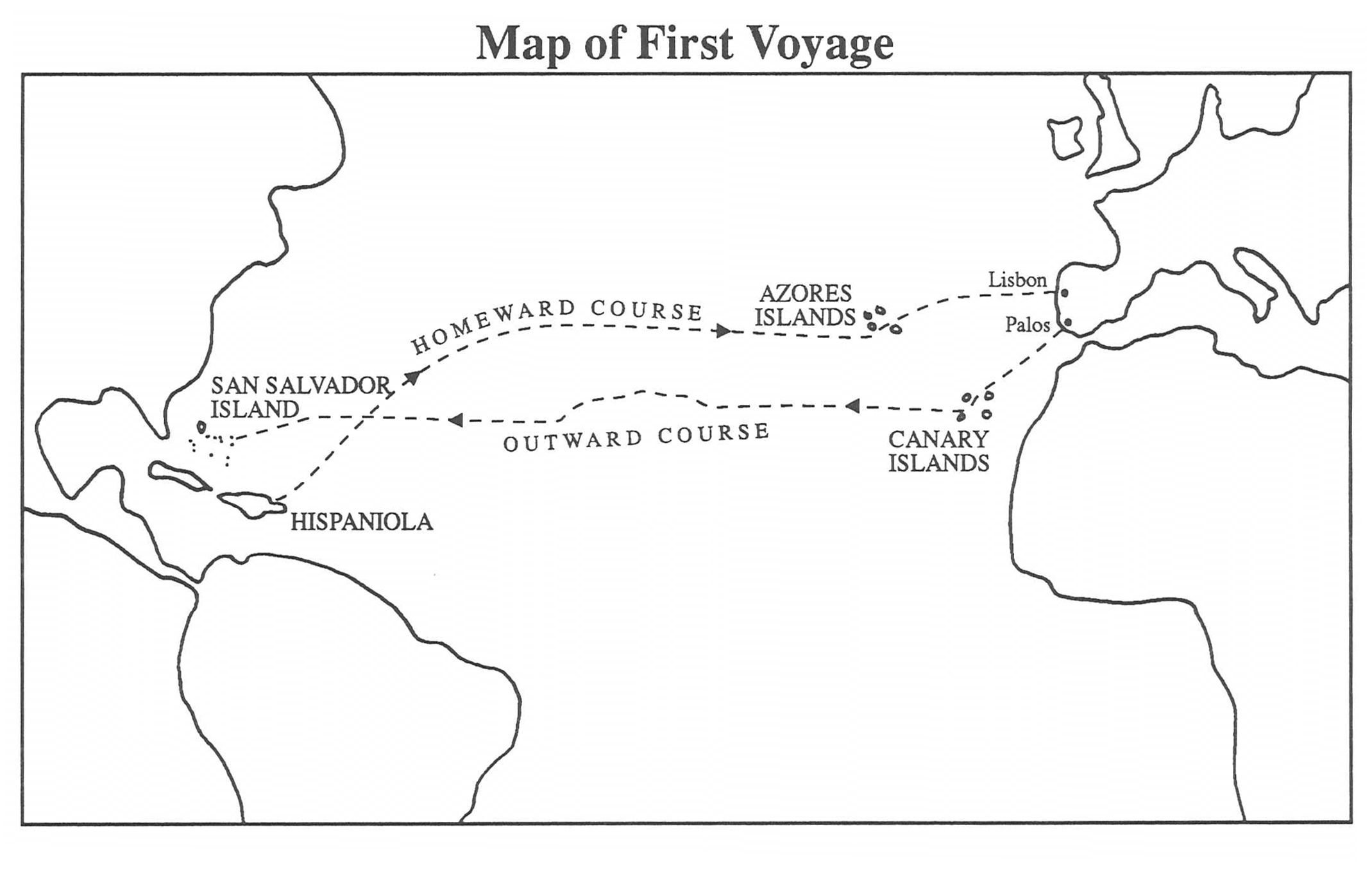 christopher columbus first voyage | Chapter 5: First Voyage to the ...