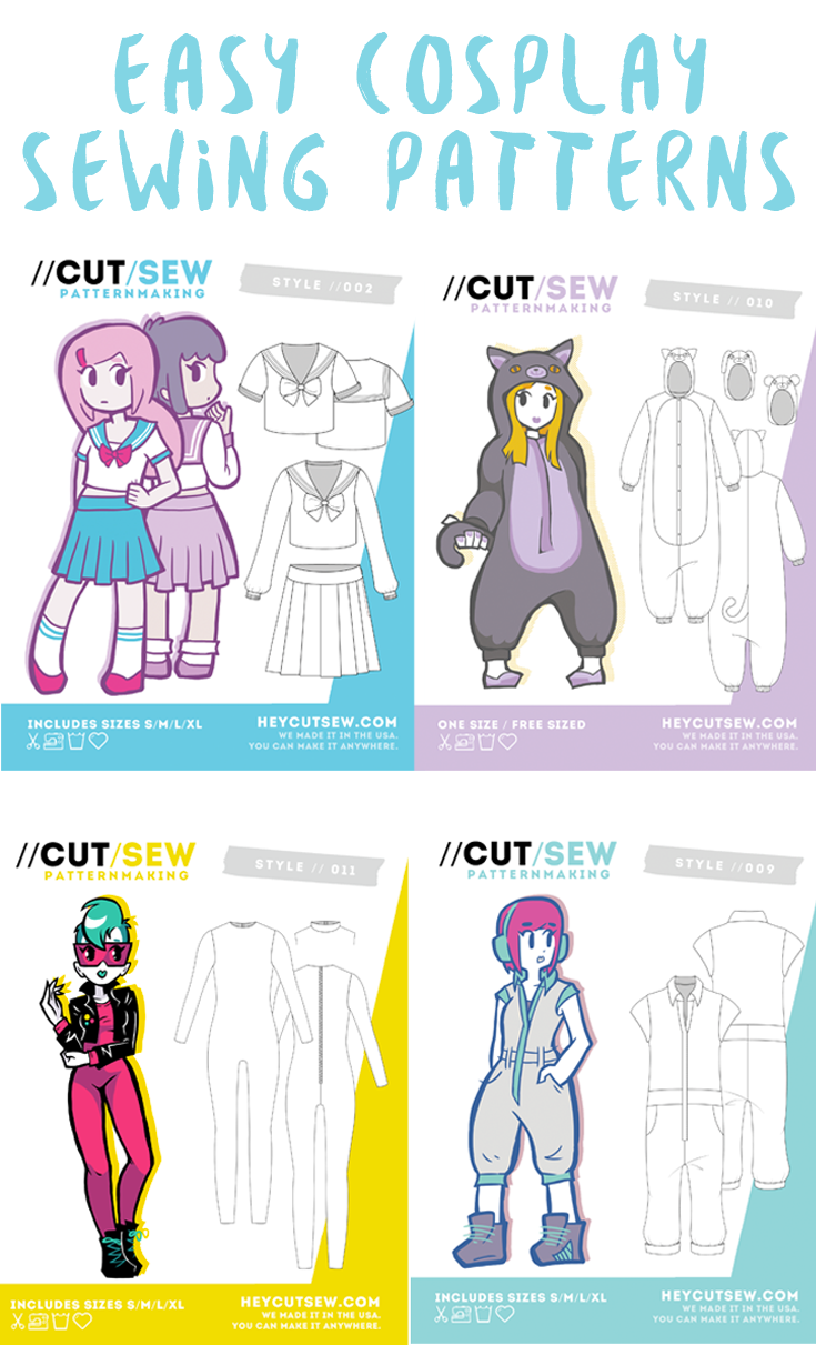 Sewing patterns for cosplay that are made for beginners ...