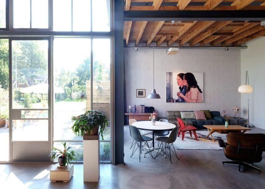 Industrieel en wit interieur met kleuraccenten keuken pinterest