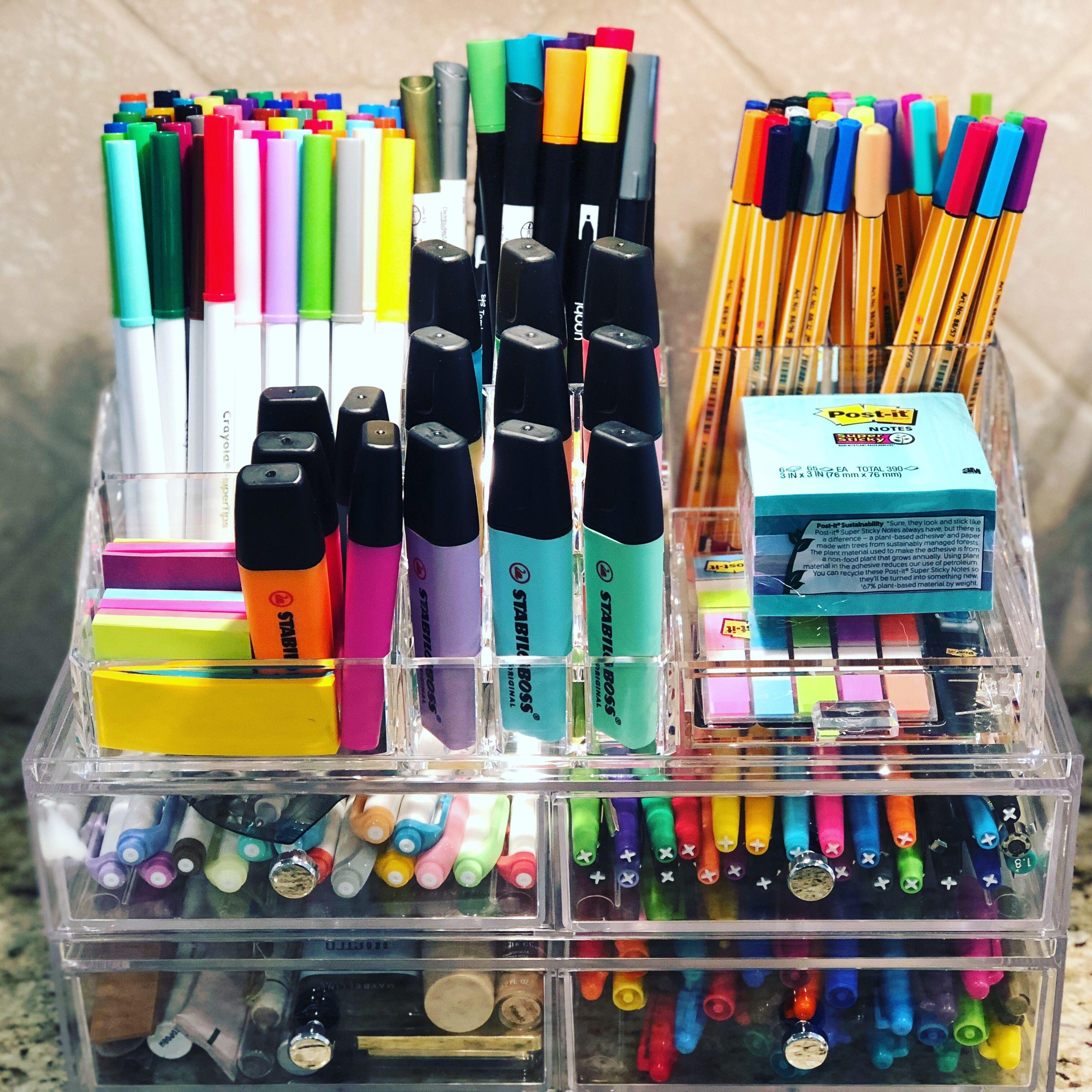 Pen Organizer Stationery Organization Pen Organization