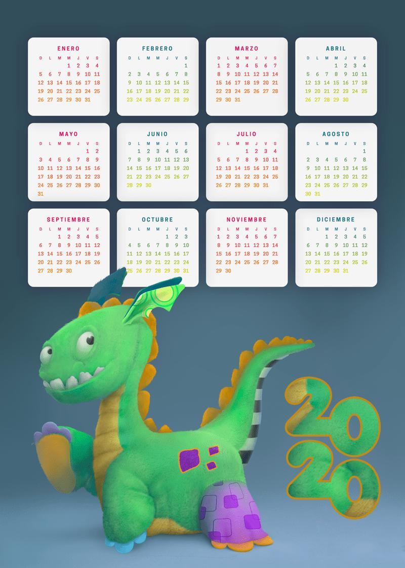 Calendario 2020 en español infantil | Calendario para ...