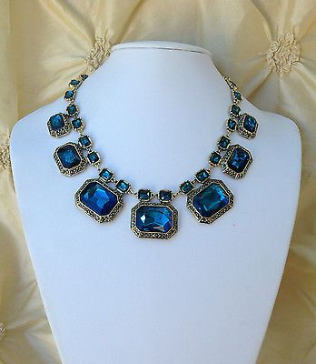 glass blue necklace cobalt beach necklaces sea product