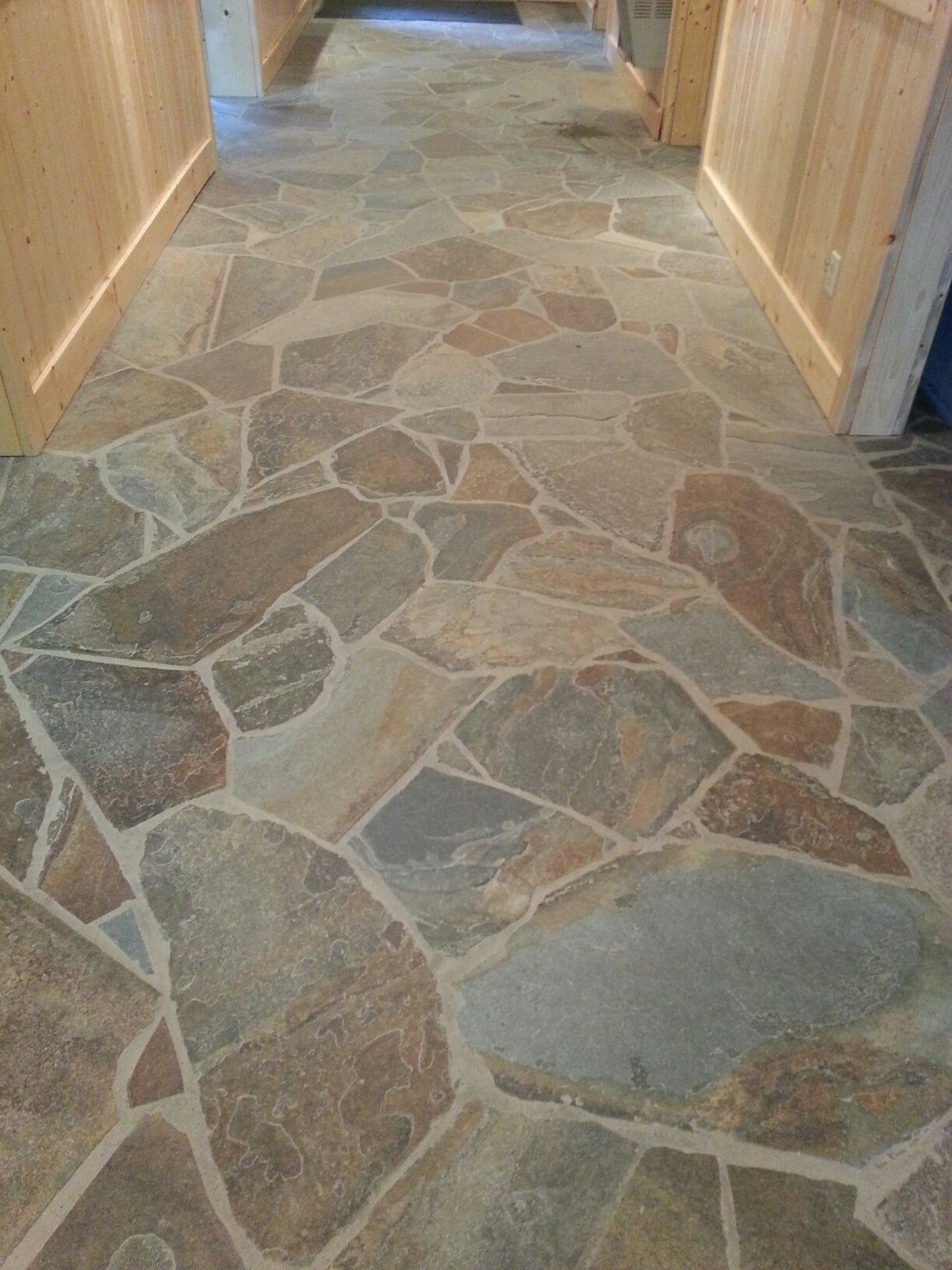 Elegant Nature Stone Basement Floor