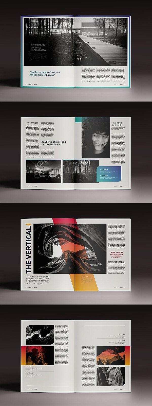 Gradient Magazine Indesign Template In 2020 Indesign Vorlage Template Magazin