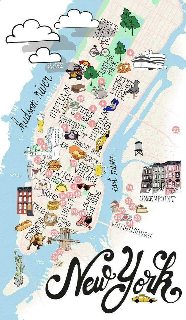 Pin Af Claus Rosenfeldt Jensen Pa New York Rejser Kort Steder