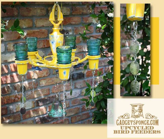 GadgetSponge.com - Repurposing, Upcycling, Birds & Nature - Repurposed Glass Insulator Candlelabra