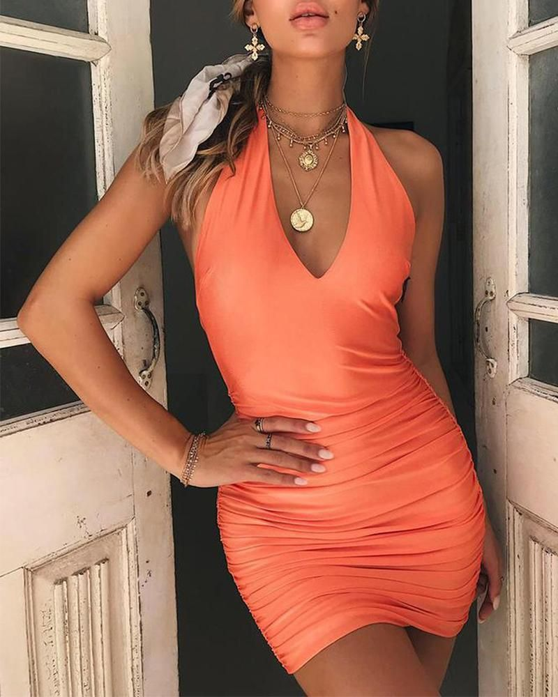 Pretty Cute Store Women Dresses Female Sexy Deep V Neck