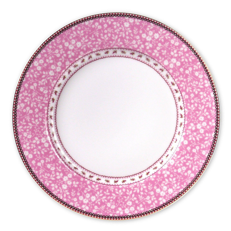 Petite Rose Pink Dinner Plate  sc 1 st  Pinterest & Petite Rose Pink Dinner Plate | Wedding: Pink u0026 Black u0026 White ...