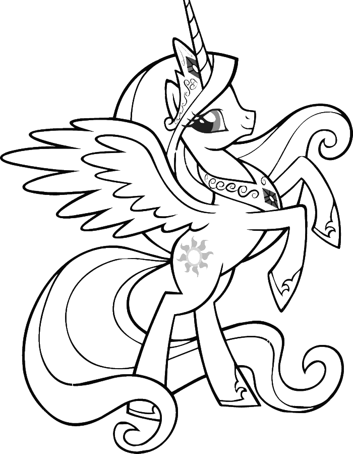 - Download Or Print This Amazing Coloring Page: Free Printable Coloring Pages  My Little Pony Coloring, Unicorn Coloring Pages, My Little Pony Unicorn