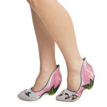 womens irregular choice pale blue tiger blossom high heels