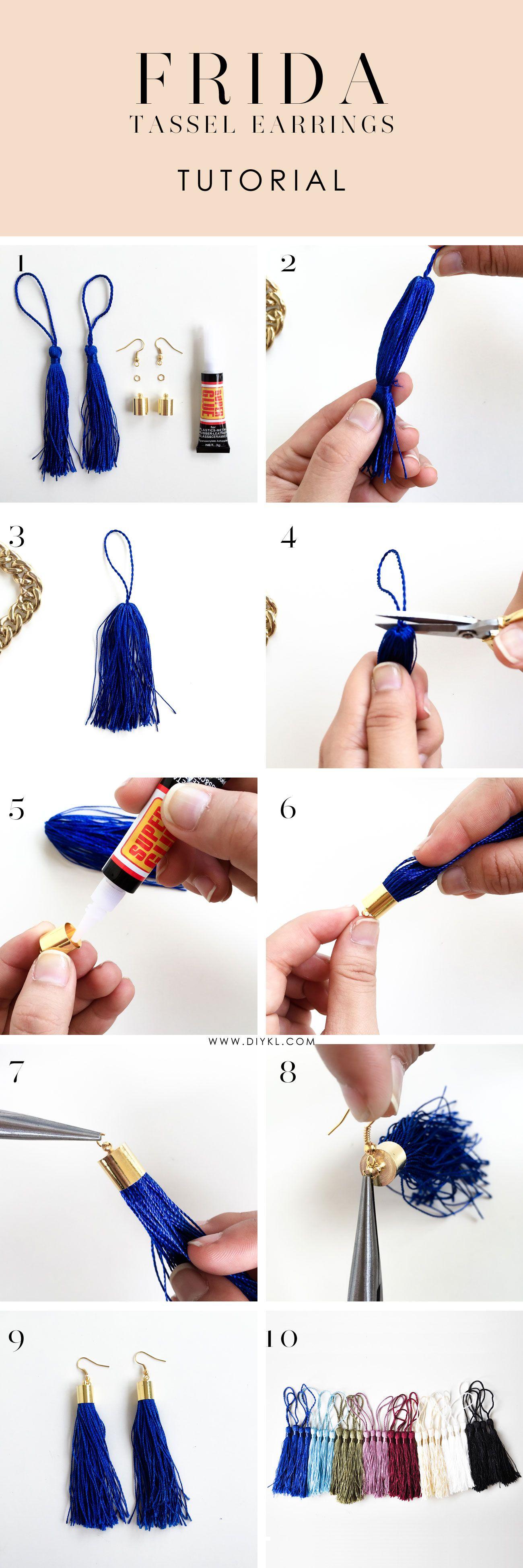 AliExpress fabrică autentică cumpărături FRIDA Tassel Earrings Tutorial | Handmade | Creație de bijuterii ...
