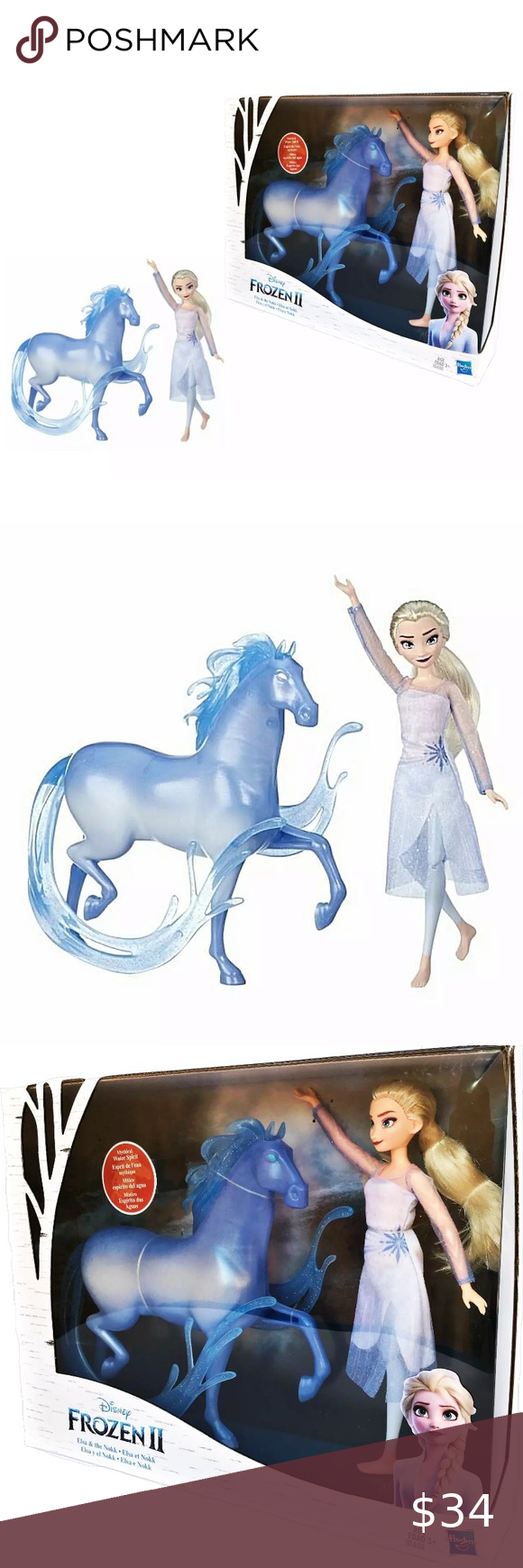 Disney E5516 FrozenElsa FashionDoll and NokkFigure NEW Elsa & The Nokk Disney Frozen II Mythical water Spirit See Images  Thank You for Your Purchase. Disney Toys Action Figures & Playsets