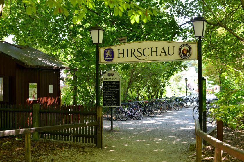 Typisch München Der Hirschau Biergarten Im Englischen Garten