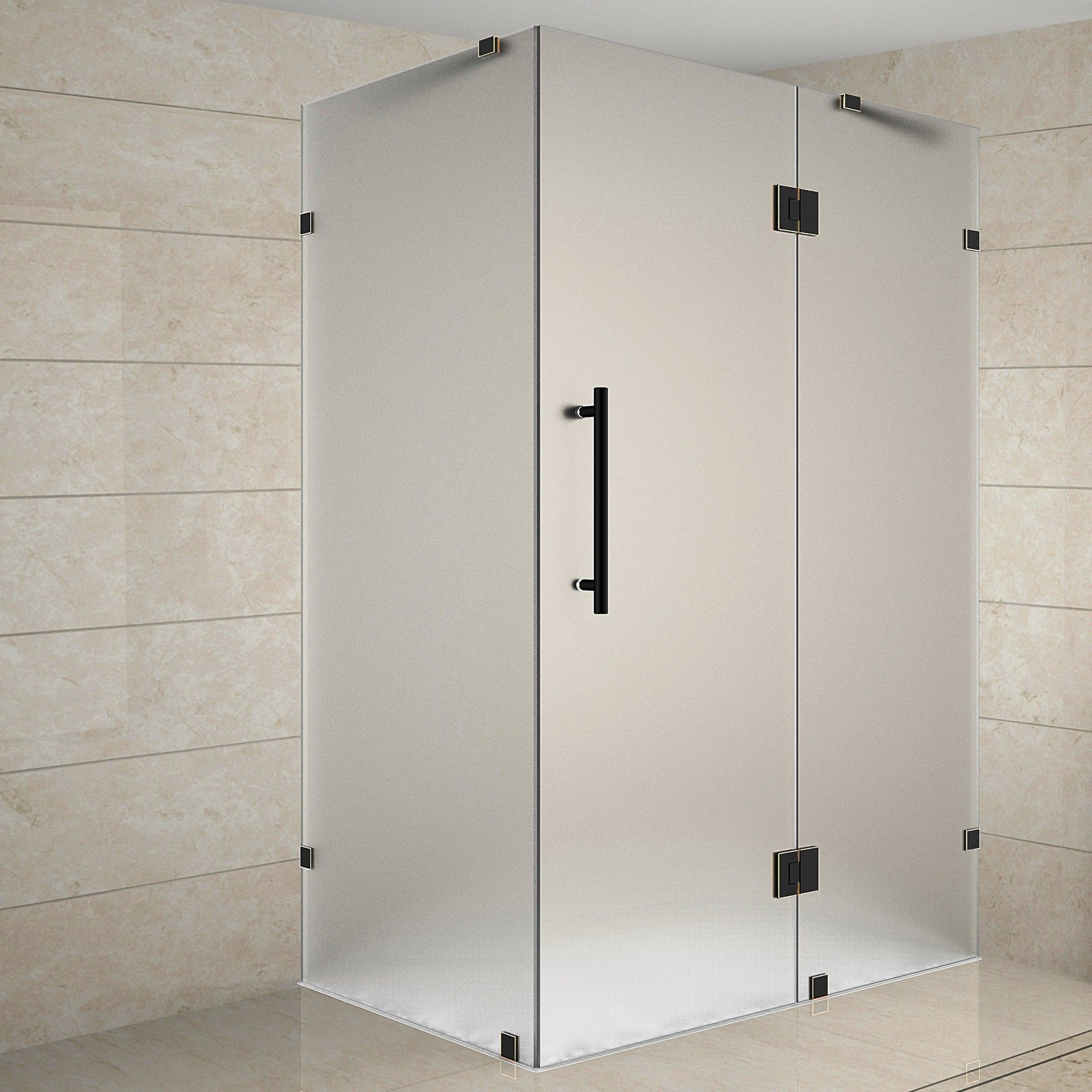 Avalux 39 X 72 Rectangle Hinged Shower Enclosure Frameless
