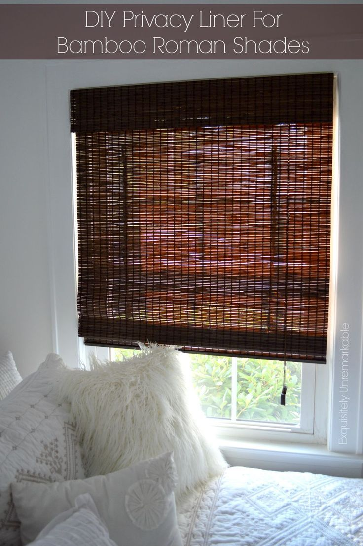 DIY Privacy Liner for Bamboo Roman Shades #diycurtains