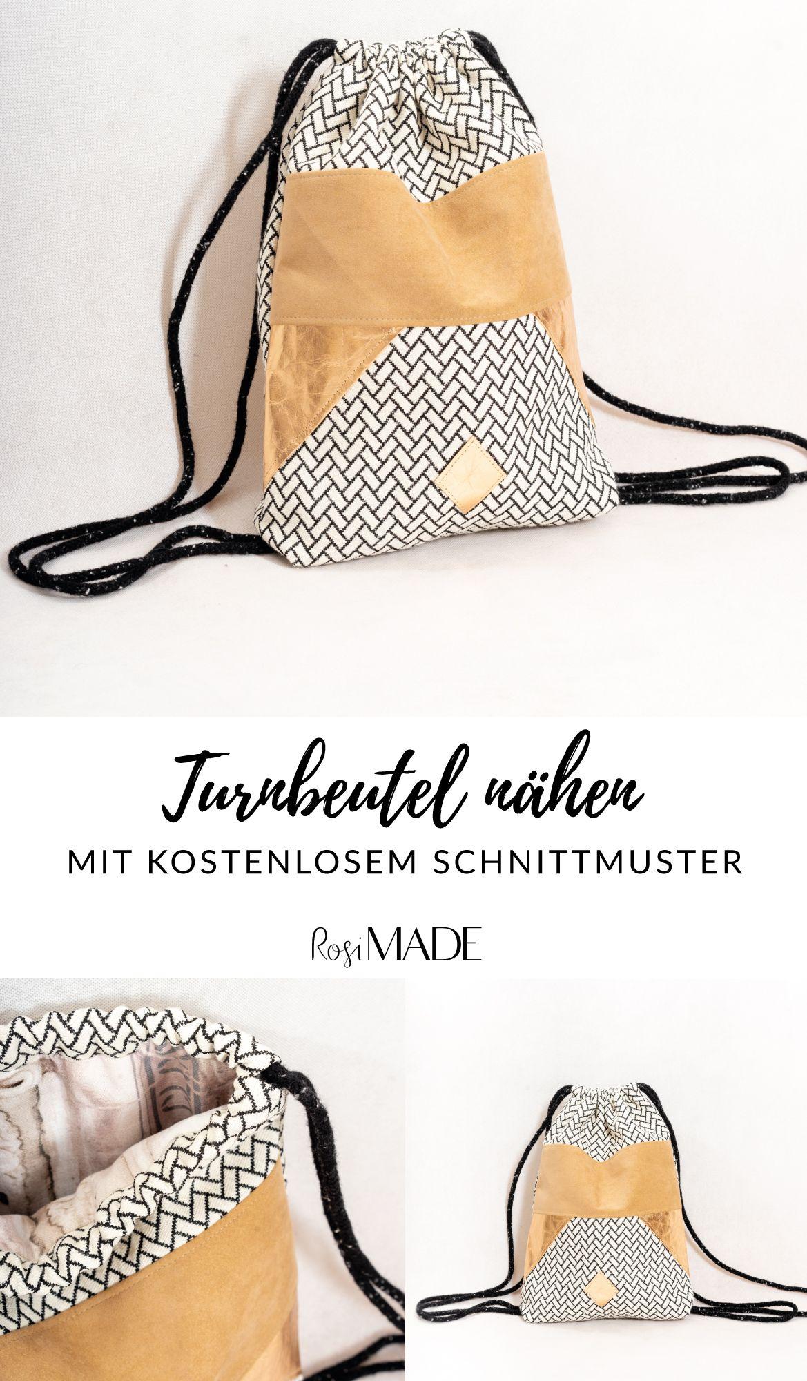 Photo of Turnbeutel nähen für Anfänger mit dem kostenlosen Schnittmuster von RosiMADE….